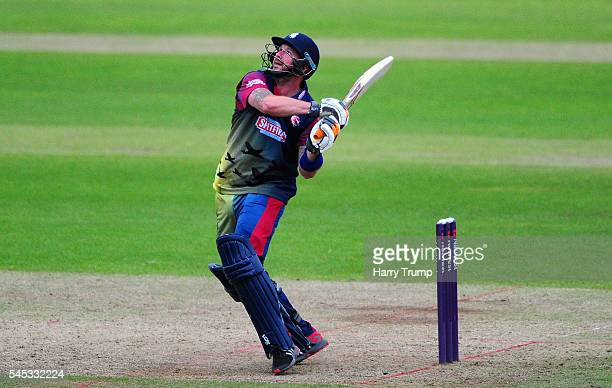 Darren Stevens of Kent bats during the Natwest T20 Blast match between Somerset and Kent at The Cooper Associates County Ground on July 7 2016 in...