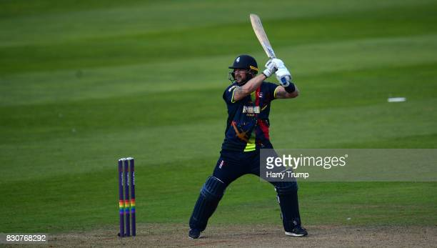 Darren Stevens of Kent bats during the NatWest T20 Blast match between Somerset and Kent at The Cooper Associates County Ground on August 12 2017 in...