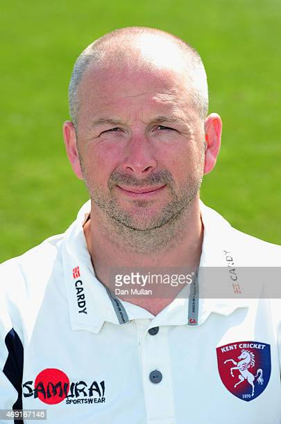 Darren Stevens of Kent poses during the Kent CCC Photocall on April 10 2015 in Canterbury England