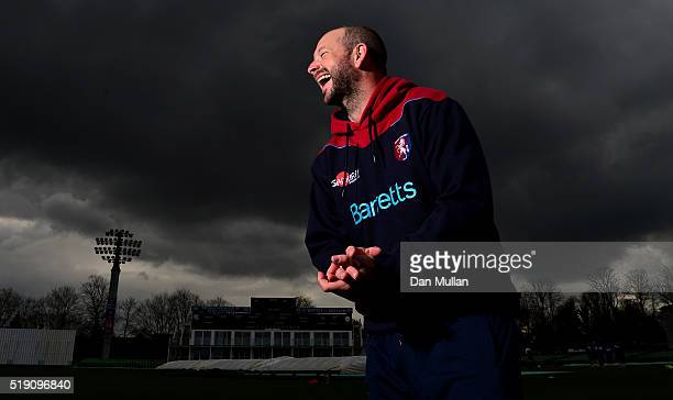 Darren Stevens of Kent poses for a portrait during the Kent CCC Photocall at The Spitfire Ground on April 4 2016 in Canterbury England