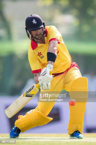 Darren Stevens of Marylebone Cricket Club hits a shot during Day 2 of Hong Kong Cricket World Sixes 2017 Plate Semi 2 match between Bangladesh vs...