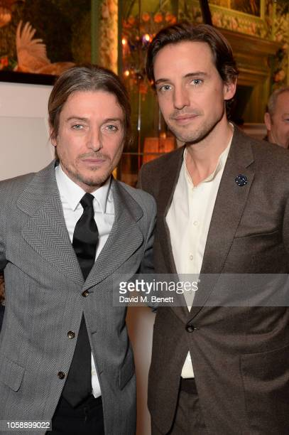 Darren Strowger and Alexander Gilkes attend the Annabel's Art Auction fundraiser in aid of Teenage Cancer Trust Teen Cancer America at Annabel's on...