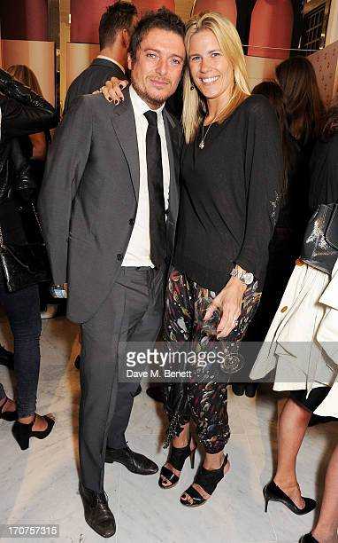 Darren Strowger and Clare Strowger attend the launch of 'Charlotte Tilbury's MakeUp House of Rock n'Kohl' at Selfridges on June 17 2013 in London...