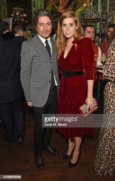 Darren Strowger and Princess Beatrice of York attend the Annabel's Art Auction fundraiser in aid of Teenage Cancer Trust Teen Cancer America at...