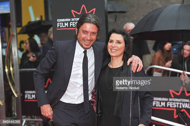 Darren Strowger and Sadie Frost attend the screening of Tommy's Honour and opening gala of the Edinburgh International Film Festival at Edinburgh...
