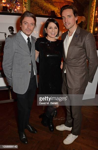 Darren Strowger Sadie Frost and Alexander Gilkes attend the Annabel's Art Auction fundraiser in aid of Teenage Cancer Trust Teen Cancer America at...