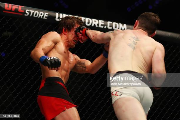 Darren Till of England and Bojan Velickovic of Serbia compete in their Welterweight bout during the UFC Fight Night at Ahoy on September 2 2017 in...