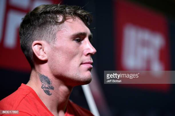 Darren Till of England interacts with media during the UFC Fight Night Media Day inside Ergo Arena on October 19 2017 in Gdansk Poland