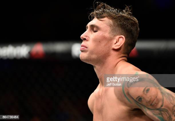 Darren Till of England stands in the Octagon prior to his welterweight bout against Donald Cerrone during the UFC Fight Night event inside Ergo Arena...