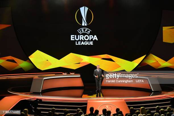 Darren Tulett during the UEFA Europa League 2019/20 Group Stage Draw, part of the UEFA European Club Football Season Kick-Off 2019/2020 at Salle des...