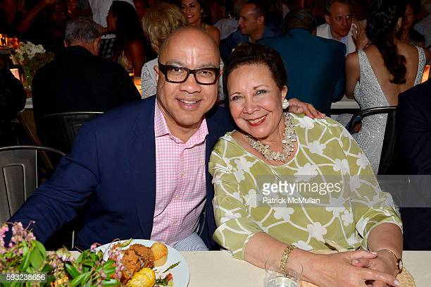 Darren Walker and Alma Powell attend the Apollo in the Hamptons 2016 party at The Creeks on August 20 2016 in East Hampton New York