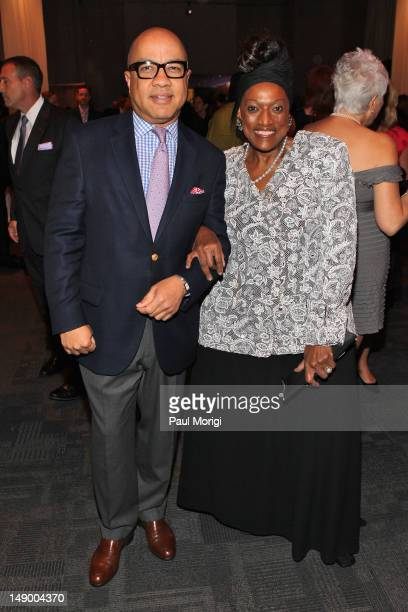 Darren Walker and Jessye Norman attend Together To End AIDS An Evening To Benefit amfAR and GBCHealth at John F Kennedy Center for the Performing...