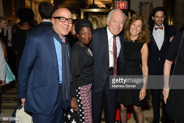 Darren Walker Thelma Golden Leonard Lauder and Judy Lauder attend the 2017 Gordon Parks Foundation Awards Gala at Cipriani 42nd Street on June 6 2017...