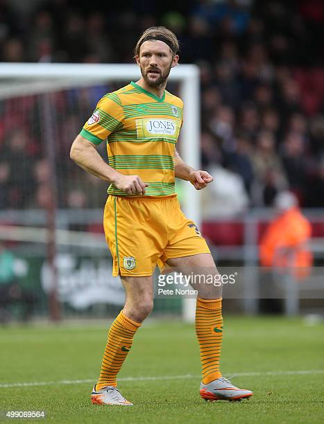 Darren Ward of Yeovil Town in action during the Sky Bet League Two match between Northampton Town and Yeovil Town at Sixfields Stadium on November 28...
