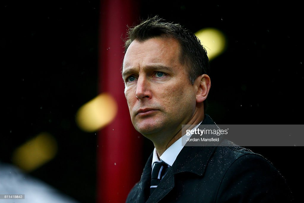 Darren Wassall, manager of Derby looks on during the Sky Bet Championship match between Brentford and Derby County at Griffin Park on February 20, 2016 in Brentford, United Kingdom.