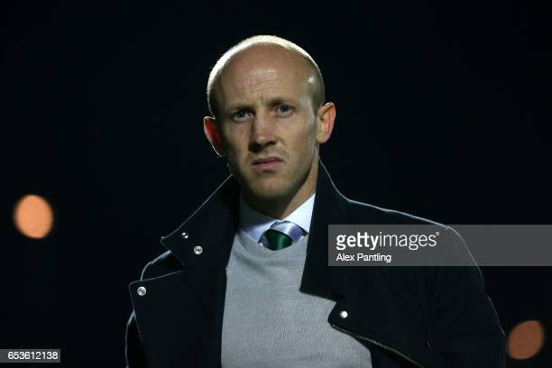 Darren Way Manager of Yeovil Town looks on prior to the Sky Bet League 2 match between Barnet and Yeovil Town on March 15 2017 in Barnet England