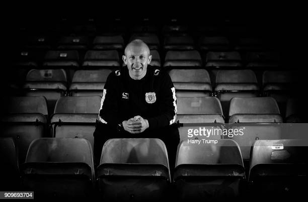Darren Way Manager of Yeovil Town poses during Yeovil Town Media Access Ahead of the FA Cup Fourth Round at Huish Park on January 23 2018 in Yeovil...
