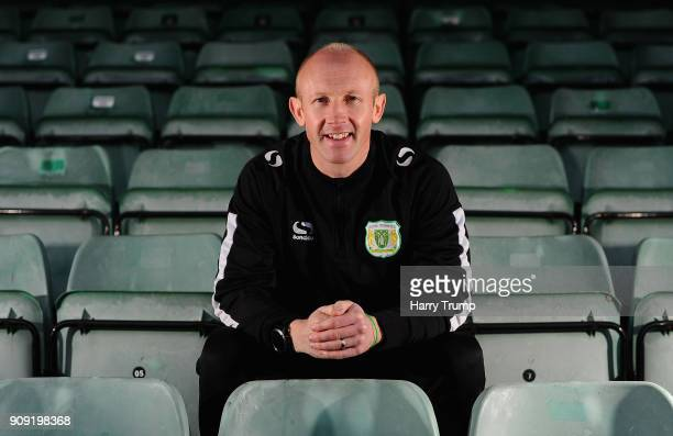 Darren Way manager of Yeovil Town poses for a photograph during the Yeovil Town media access day at Huish Park on January 23 2018 in Yeovil England