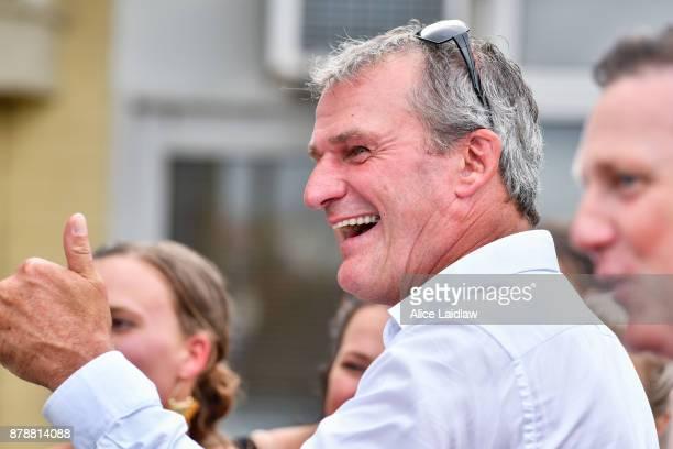 Darren Weir after winning the City Of Ballarat Tonks Plate at SportsbetBallarat Racecourse on November 25 2017 in Ballarat Australia
