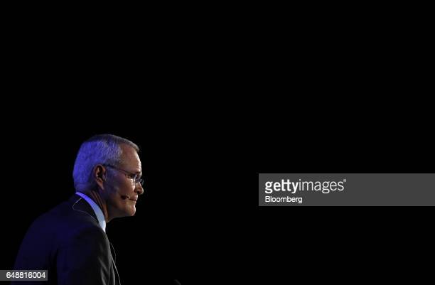 Darren Woods chairman and chief executive officer of Exxon Mobil Corp pauses while speaking during the 2017 <Menu> to Return to Your Inbox CERAWeek...