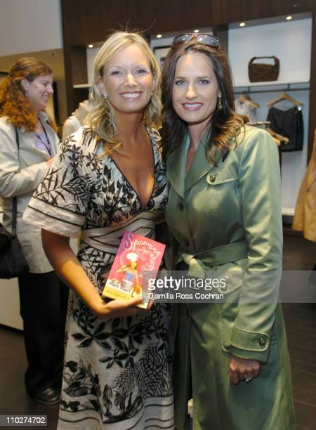 Darri Stephens and Contessa Brewer during Club Monaco Celebrates The Launch of 'Spooning' April 26 2006 at Club Monaco in New York City New York...