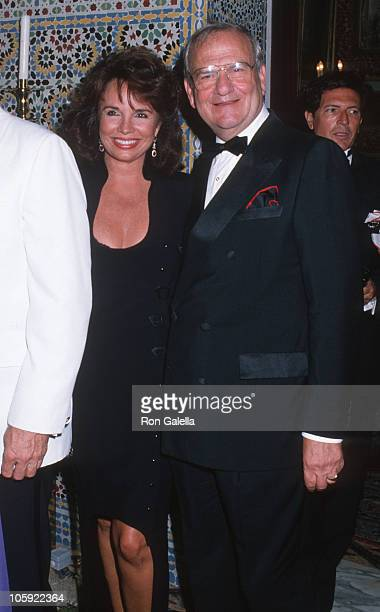Darrien Earle and Lee Iacocca during Malcolm Forbes' 70th Birthday Party 1989 at Tangier Country Club in Tangier Morocco Morocco