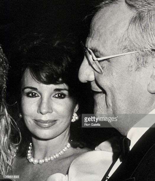 Darrien Earle and Lee Iococca during Friars Club Salute to Barbara and Frank Sinatra at Waldorf Hotel in New York City New York United States
