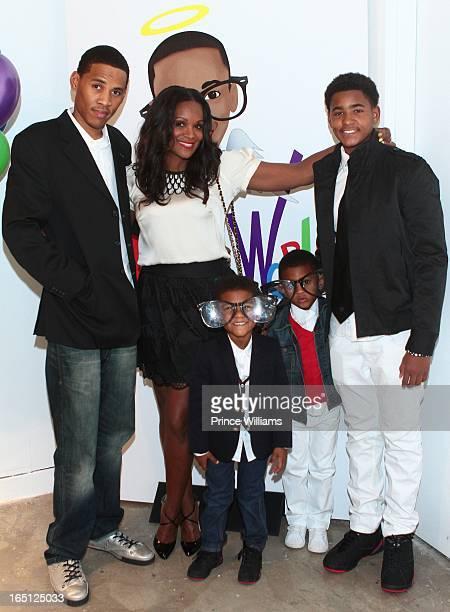 Darrin Glover Tameka Foster Naviyd Raymond Usher Raymond V and Ryan Glover Jr attend the birthday and foundation lanuch Kile's World to honor Kile...