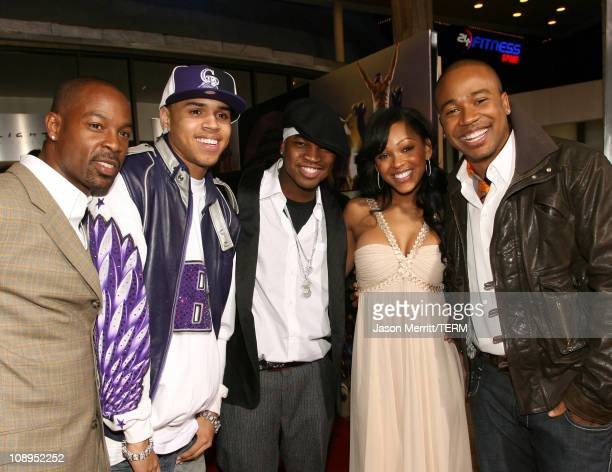 Darrin Henson Chris Brown NeYo Meagan Good and Columbus Short