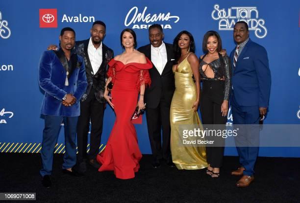 Darrin Henson Michael Jai White Valarie Pettiford Ernie Hudson Javicia Leslie KJ Smith and Clifton Powell attend the 2018 Soul Train Awards at the...