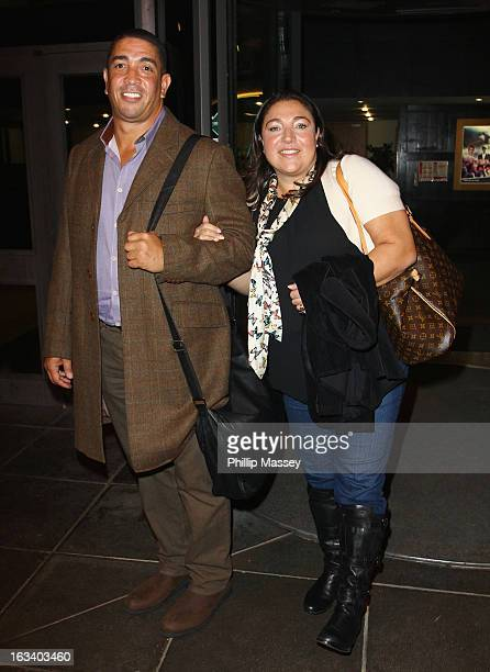 Darrin Jackson and Jo Frost attend the Late Late Show on March 8 2013 in Dublin Ireland