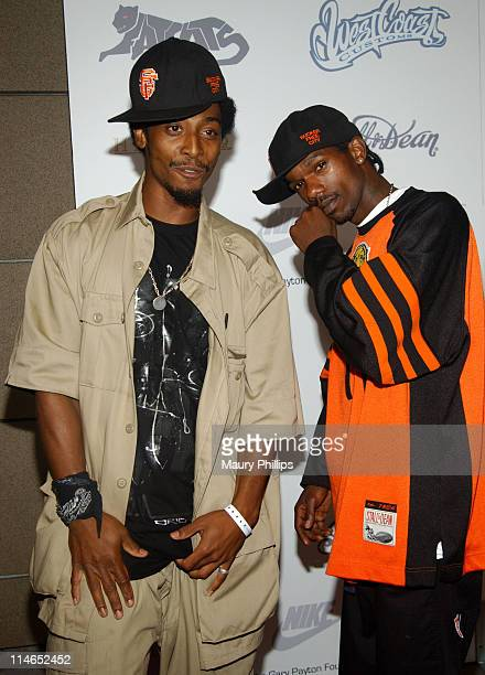 Darris Love and Malieek Straughter during Gary Payton's Private Birthday Party at Lucky Strike Lanes in Hollywood California United States
