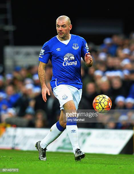 Darron Gibson of Everton during the Barclays Premier League match between Norwich City and Everton at Carrow Road on December 12 2015 in Norwich...