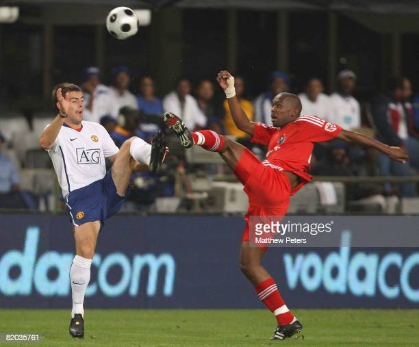 Darron Gibson of Manchester United in action during the Vodacom Challenge preseason friendly match between Orlando Pirates and Manchester United at...