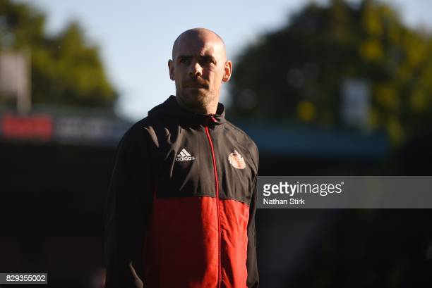 Darron Gibson of Sunderland looks on before the Carabao Cup First Round match between Bury and Sunderland at Gigg Lane on August 10 2017 in Bury...