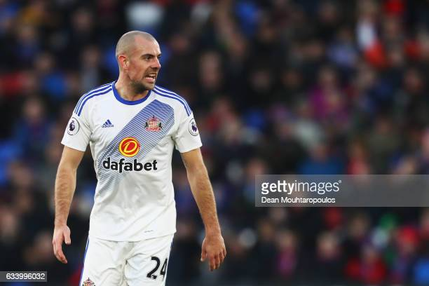 Darron Gibson of Sunderland looks on during the Premier League match between Crystal Palace and Sunderland at Selhurst Park on February 4 2017 in...