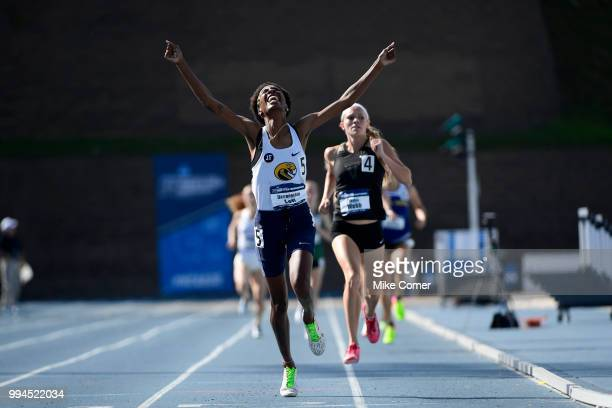 Darroneshia Lott of Coker College competes in the 800 meter run but was disqualified during the Division II Men's and Women's Outdoor Track and Field...