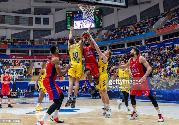 Darrun Hilliard #6 of CSKA Moscow in action against Alba Berlin during the Turkish Airlines EuroLeague Round 4 of 20202021 season at the Megasport...