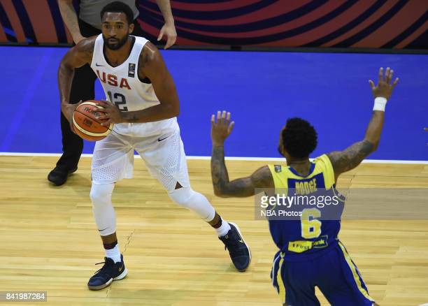 Darrun Hilliard II of United States handles the ball during the FIBA Americup semi final match between US and Virgin Islands at Orfeo Superdomo arena...