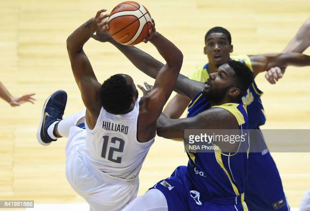 Darrun Hilliard II of United States shoots the ball during the FIBA Americup semi final match between US and Virgin Islands at Orfeo Superdomo arena...