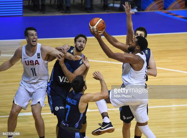 Darrun Hilliard II of United States shoots the ball during the FIBA Americup final match between US and Argentina at Orfeo Superdomo arena on...