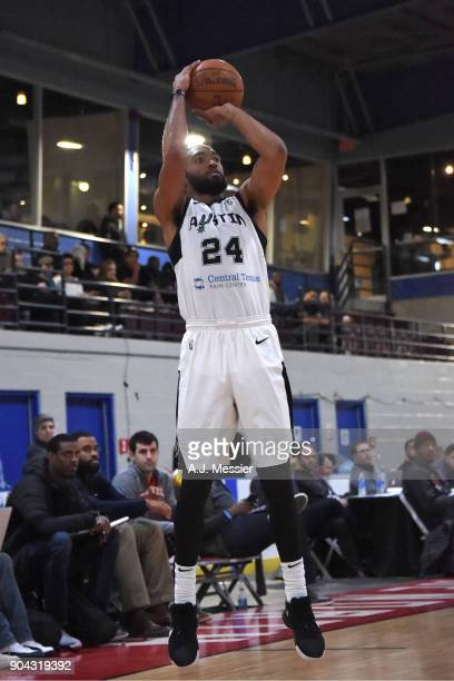 Darrun Hilliard of the Austin Spurs shoots the ball against the Wisconsin Herd during the GLeague Showcase on January 12 2018 at the Hershey Centre...