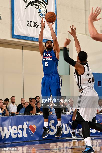 Darrun Hilliard of the Detroit Pistons shoots the ball against the Orlando Magic on July 4 2015 at Amway Center in Orlando Florida NOTE TO USER User...