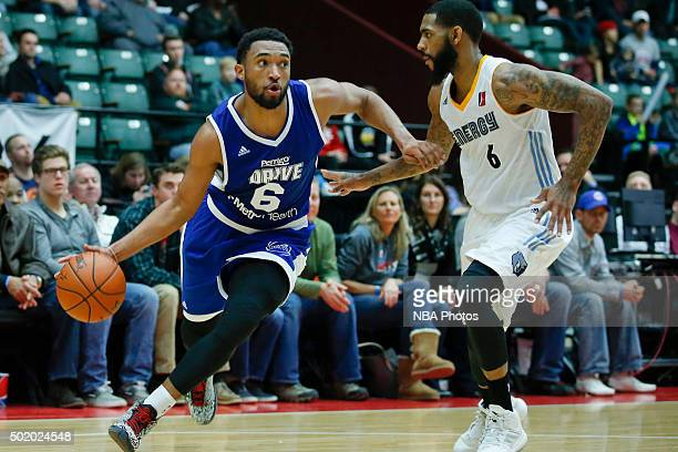 Darrun Hilliard of the Grand Rapids Drive drives to the basket against Terry Whisnant of the Iowa Energy during the second half of an NBA DLeague...