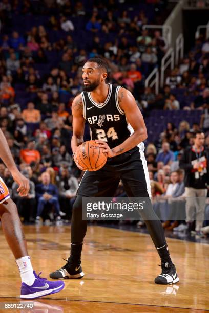 Darrun Hilliard of the San Antonio Spurs handles the ball against the Phoenix Suns on December 9 2017 at Talking Stick Resort Arena in Phoenix...