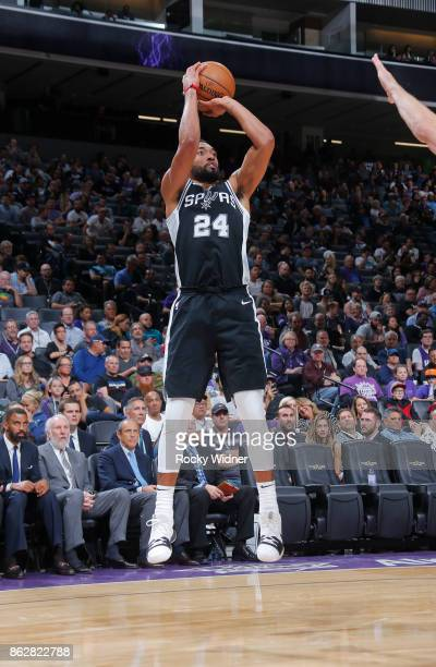 Darrun Hilliard of the San Antonio Spurs shoots against the Sacramento Kings on October 2 2017 at Golden 1 Center in Sacramento California NOTE TO...