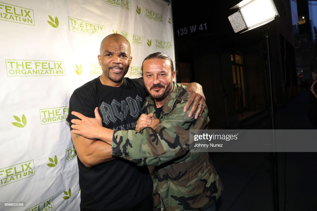 Darryl 'D.M.C.' McDaniels (L) and Alberto 'Polo' Cretara attend The Felix Organization's 2018 Dance This Way Benefit at Arena on May 14, 2018 in New York City.