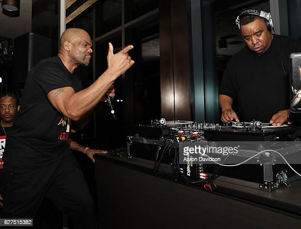 """Darryl """"DMC"""" McDaniels and Dj Charlie Chan Soprano attends An Evening Of Hip Hop With A Performance By Darryl """"DMC"""" McDaniels on December 3, 2016 in..."""