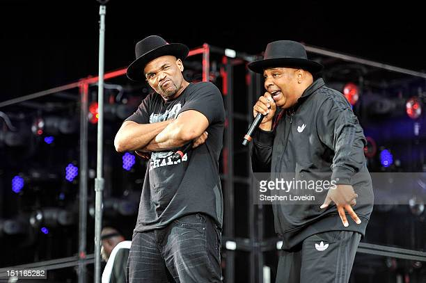 Darryl D.M.C. McDaniels and Joseph Rev Run Simmons of Run–D.M.C. Perform during Budweiser Made In America Festival Benefiting The United Way - Day 2...