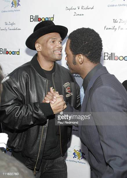 """Darryl """"DMC"""" McDaniels and Pras during Billboard Presents: Children Uniting Nations Oscar Party - Arrivals at Henry Fonda Theatre in Hollywood, CA,..."""